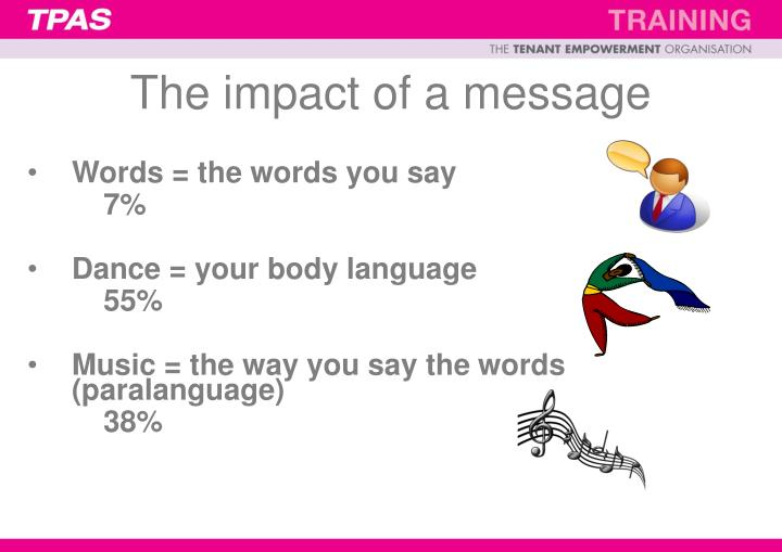 The impact of a message