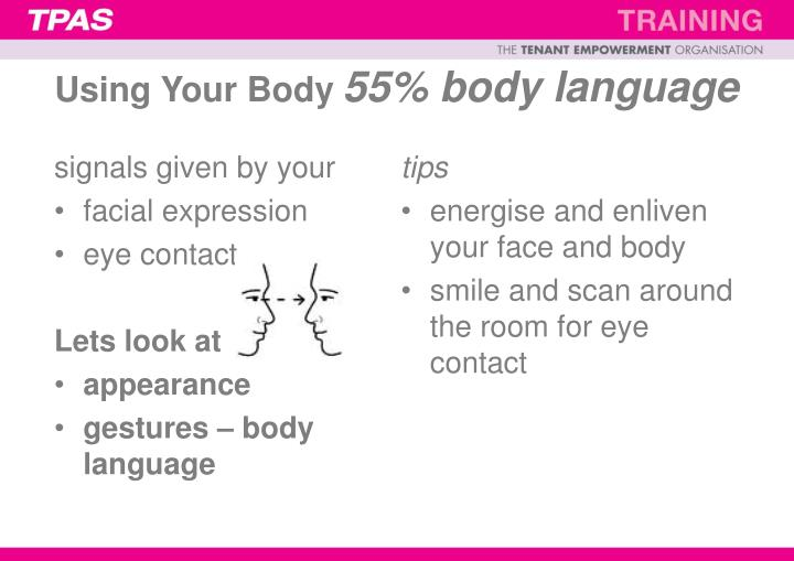 Using Your Body