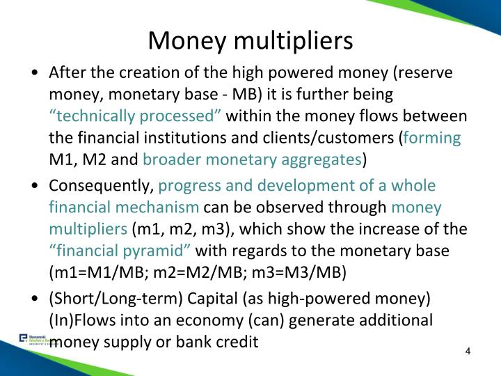 Money multipliers
