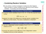 transforming and combining random variables10