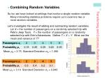 transforming and combining random variables6