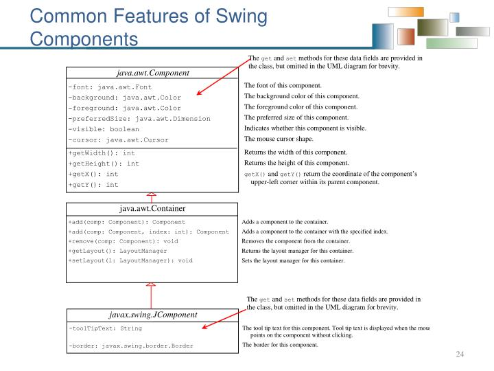 Common Features of Swing