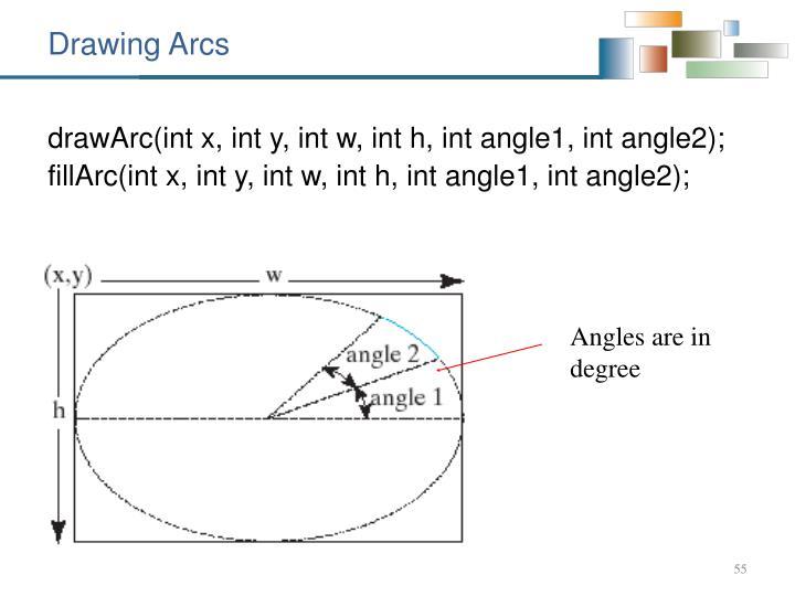 Drawing Arcs
