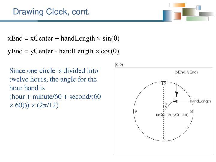 Drawing Clock, cont.