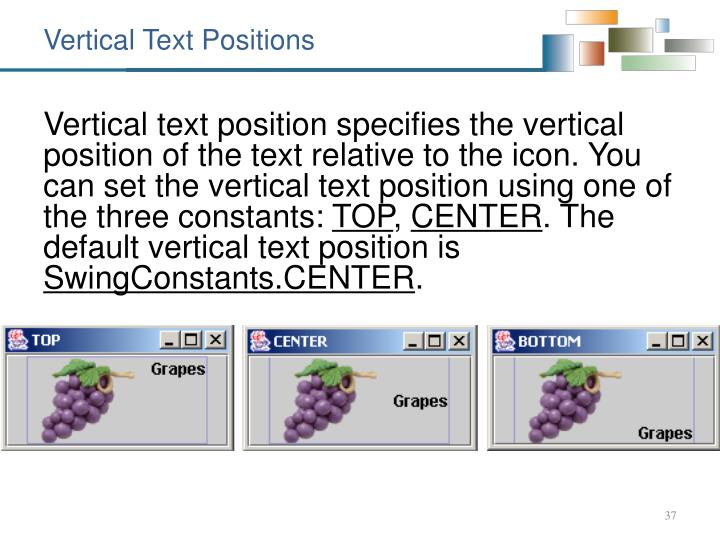 Vertical Text Positions