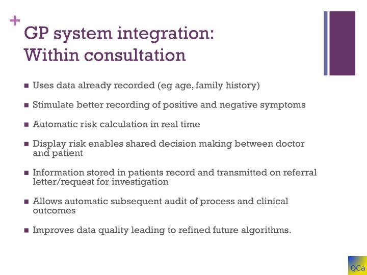 GP system integration:
