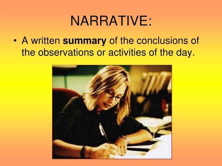 NARRATIVE: