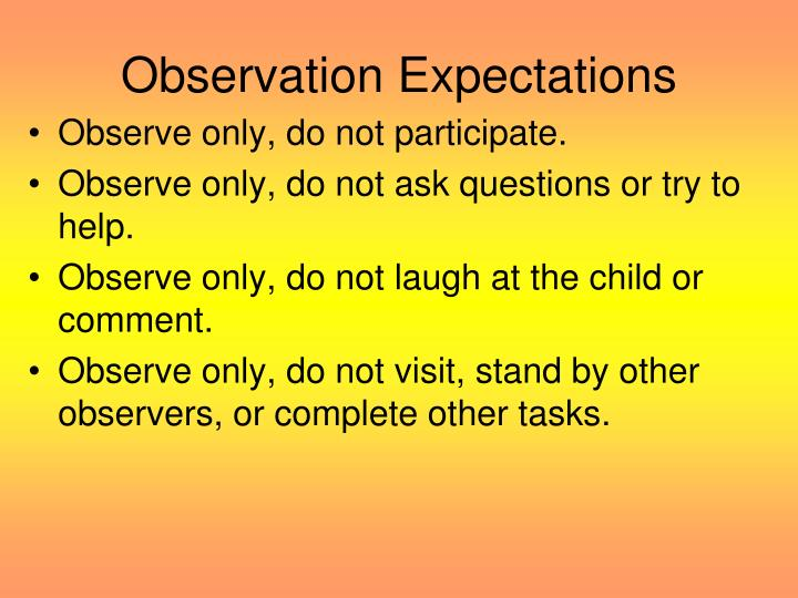 Observation Expectations