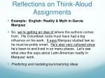 reflections on think aloud assignments