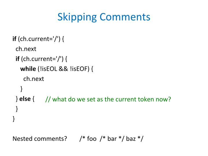 Skipping Comments