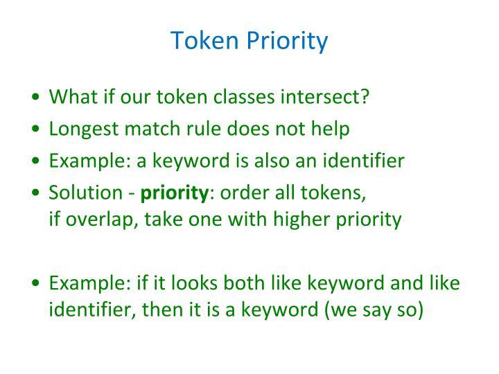 Token Priority