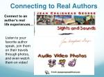 connecting to real authors