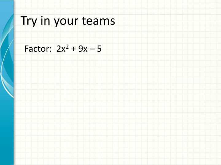 Try in your teams