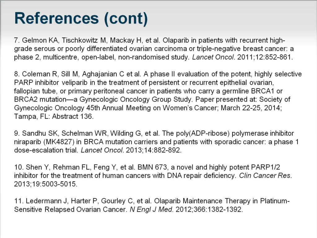 Ppt What Does Brca Have To Do With It Parp Inhibitors In Ovarian Cancer Powerpoint Presentation Id 2666452