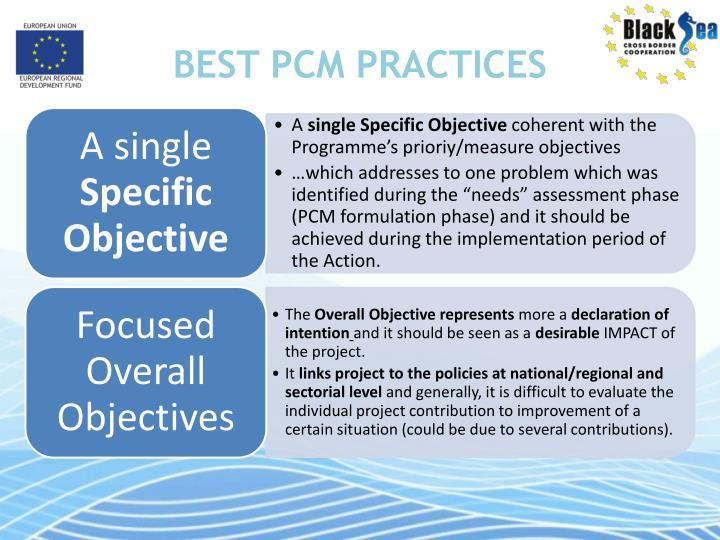 BEST PCM PRACTICES