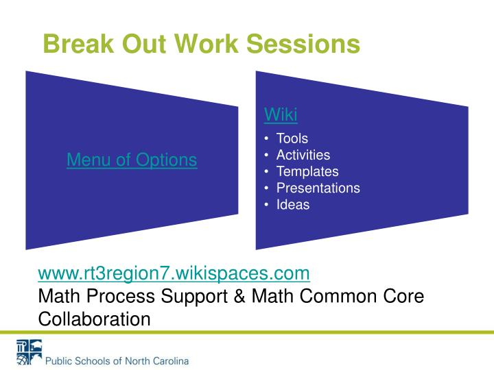 Break Out Work Sessions