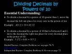 dividing decimals by powers of 10