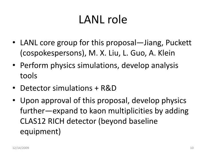 LANL role