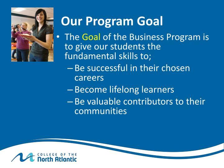 Our Program Goal