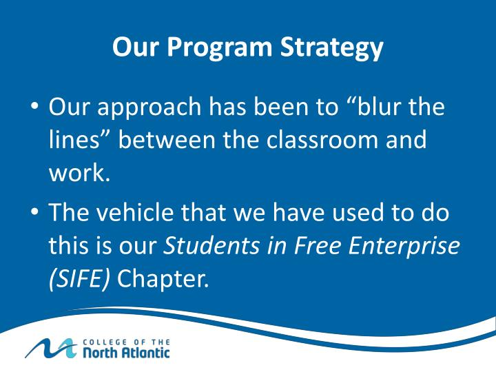 Our Program Strategy