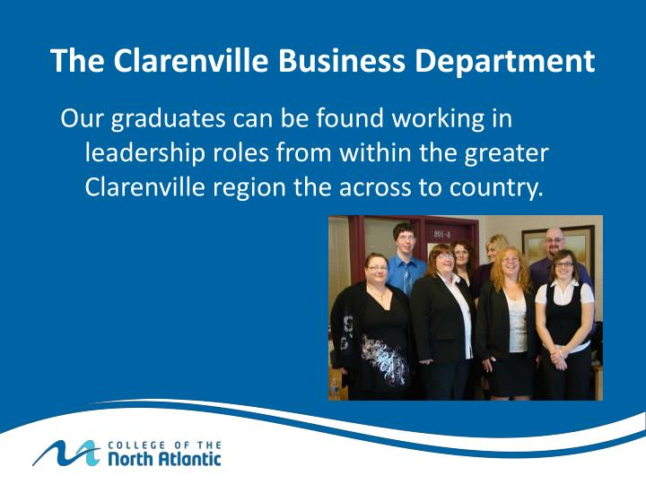 The Clarenville Business Department