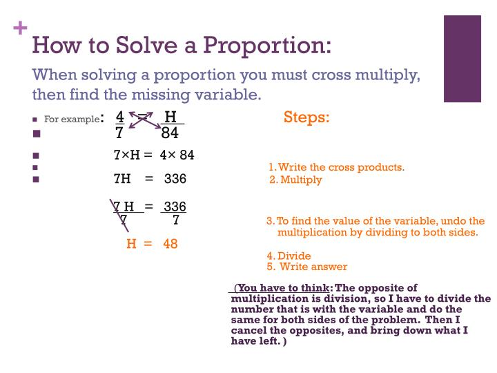 How to Solve a Proportion: