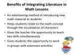 benefits of integrating literature in math lessons
