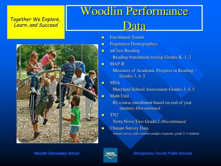 Woodlin performance data