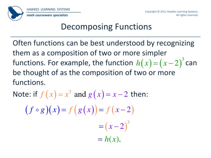 Decomposing Functions