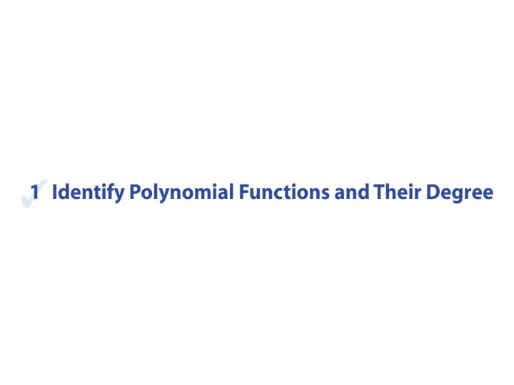 Section 4 1 polynomial functions and models