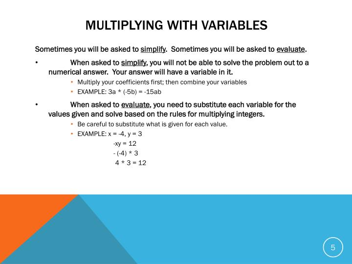 Multiplying with Variables