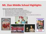 mt zion middle school highlights1