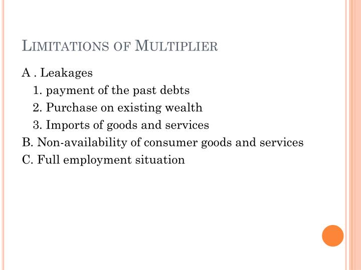 Limitations of Multiplier