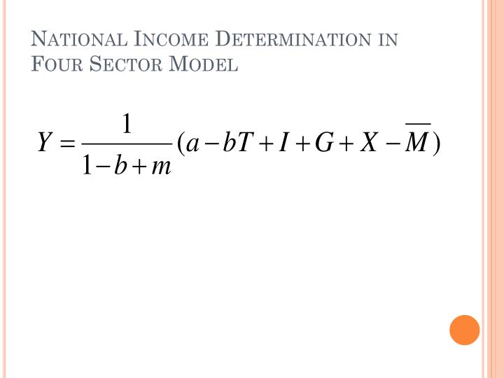 National Income Determination in Four Sector Model