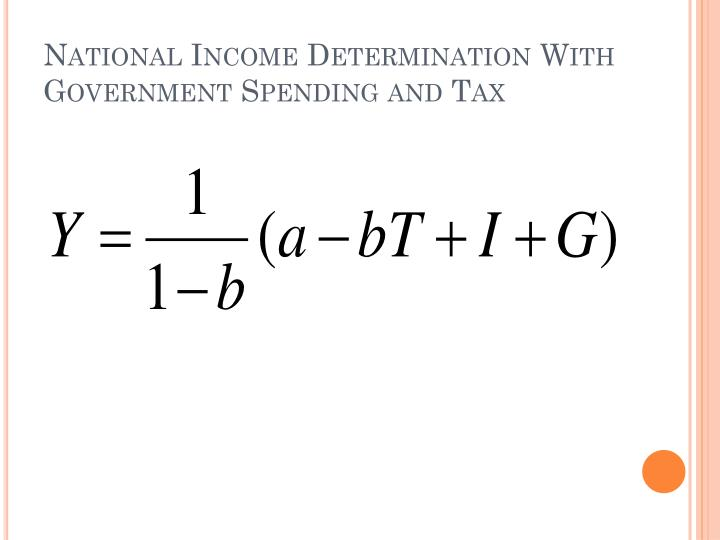 National Income Determination With Government Spending and Tax