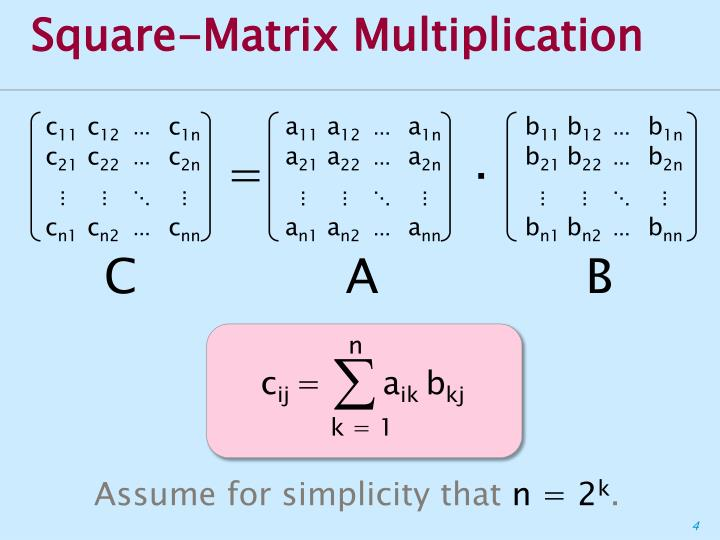 Square-Matrix Multiplication
