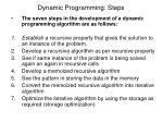 dynamic programming steps