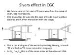 sivers effect in cgc