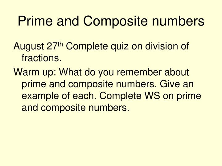 prime and composite numbers n.