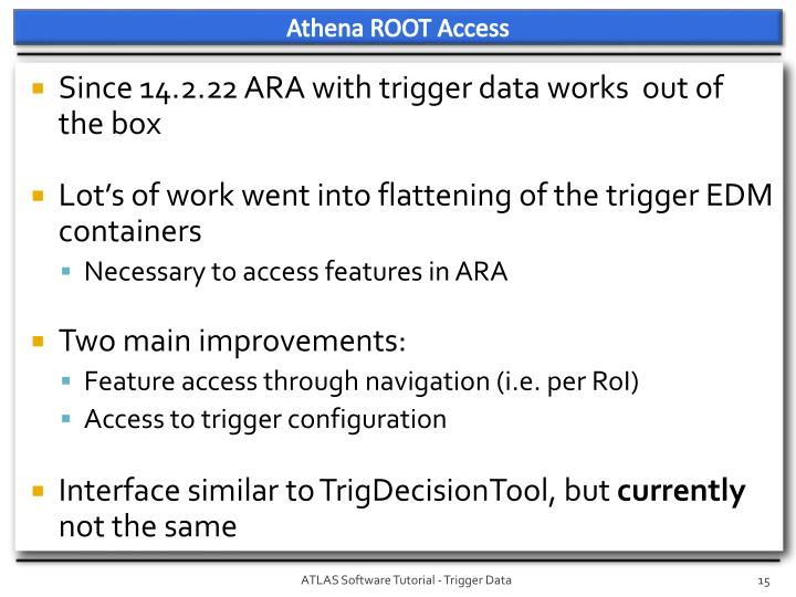 Athena ROOT Access