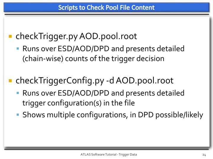 Scripts to Check Pool File Content