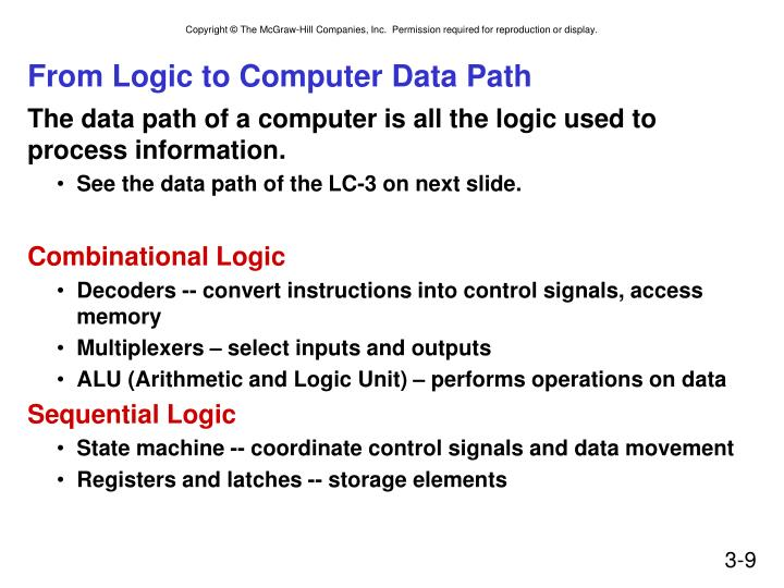 From Logic to Computer Data Path