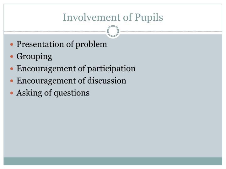 Involvement of Pupils