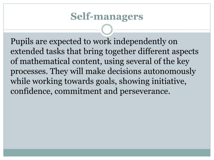 Self-managers