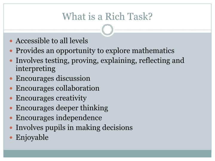 What is a rich task
