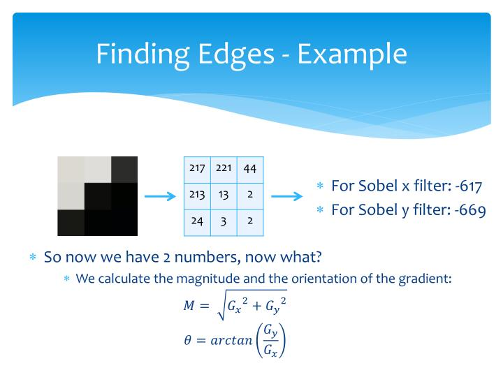 Finding Edges - Example