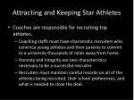 attracting and keeping star athletes