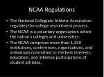 ncaa regulations