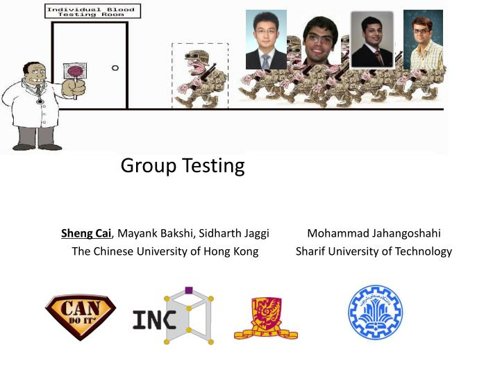 Noisy group testing quick and efficient