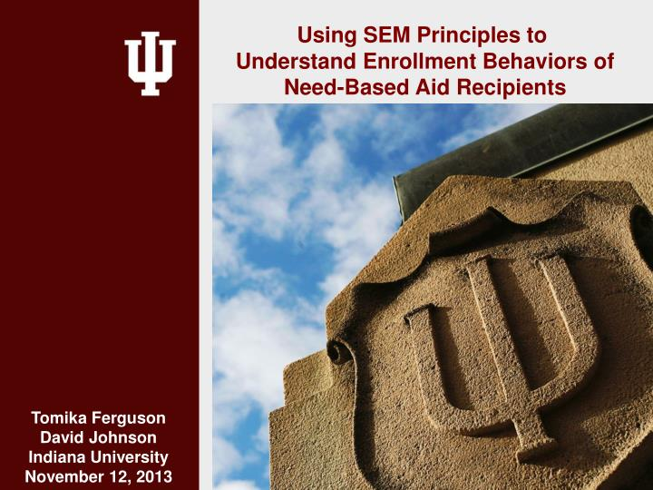 Using SEM Principles to